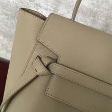 Celine Micro Belt Tote Bag In Beige Epsom Leather