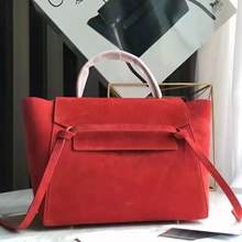 Celine Mini Belt Bag In Red Suede Calfskin