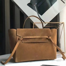Celine Mini Belt Bag In Tan Suede Calfskin