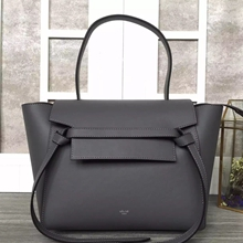 Celine Mini Belt Tote Bag In Ardoise Calfskin