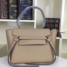 Celine Mini Belt Tote Bag In Beige Calfskin