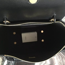 Celine Mini Belt Tote Bag In Black Epsom Leather