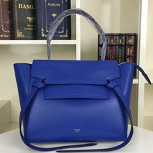 Celine Mini Belt Tote Bag In Blue Calfskin