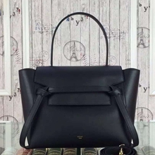 Celine Mini Belt Tote Bag In Noir Calfskin