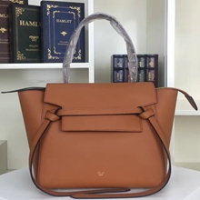 Celine Mini Belt Tote Bag In Tan Calfskin