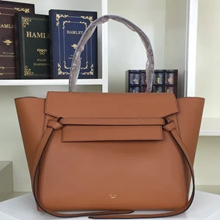 Celine Small Belt Tote Bag In Tan Calfskin