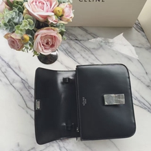 Celine Medium Box Bag In Black Spazzolato Calfskin