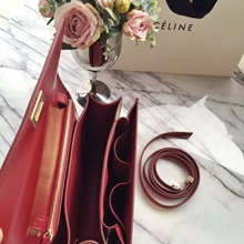Celine Medium Box Bag In Red Box Calfskin