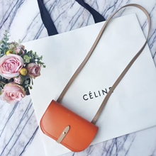 Celine Orange Strap Clutch Strap Palmelato Bag
