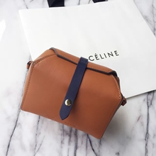 Celine Tan Box On Strap Bag