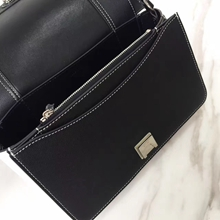 Celine Medium Frame Shoulder Bag In Black And White Leather