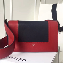 Celine Medium Frame Shoulder Bag In Red And Black Leather