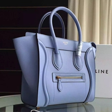 Celine Micro Luggage Bag In Celeste Calfskin