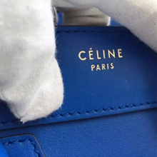 Celine Micro Luggage Bag In Electric Blue Calfskin