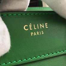 Celine Mini Luggage Bag In Green Calfskin
