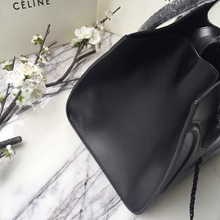 Celine Phantom Luggage Bag In Black Calfskin