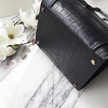 Celine Phantom Luggage Bag In Black Crocodile Leather