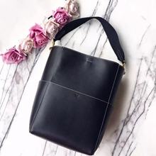 Celine Sangle Seau Bag In Black Calfskin