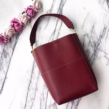 Celine Sangle Seau Bag In Bordeaux Calfskin