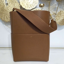 Celine Sangle Seau Bag In Brown Goatskin