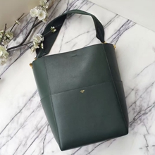 Celine Sangle Seau Bag In Dark Green Calfskin
