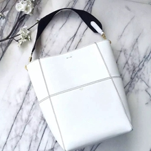 Celine Sangle Seau Bag In White Calfskin
