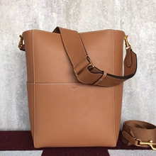 Celine Sangle Shoulder Bag In Tan Calfskin