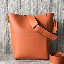Celine Sangle Shoulder Bag In Terracotta Calfskin