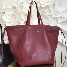 Celine Large Coulisse Shoulder Bag In Bordeaux Calfskin