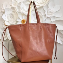 Celine Large Coulisse Shoulder Bag In Camel Calfskin