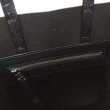 Celine Small Cabas Bag In Black Leather