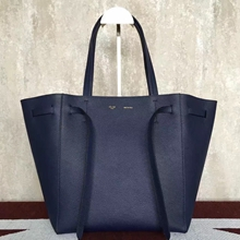 Celine Small Cabas Phantom Bag With Belt In Indigo Leather