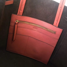 Celine Small Cabas Phantom With Tassels In Brick Leather