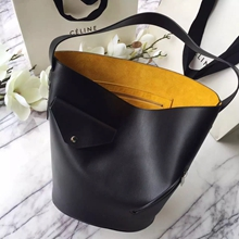 Celine Black Bucket Biker Shoulder Bag
