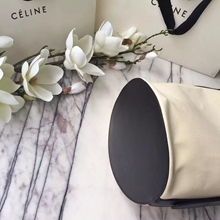 Celine Bucket Bag In Washed Canvas