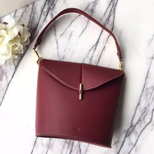 Celine Sangle Camera Bag In Bordeaux Calfskin