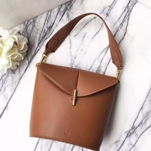 Celine Sangle Camera Bag In Brown Calfskin