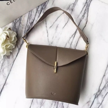 Celine Sangle Camera Bag In Khaki Calfskin