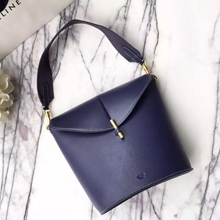 Celine Sangle Camera Bag In Navy Calfskin