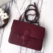 Celine Bordeaux Symmetrical Shoulder Bag