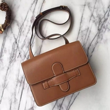 Celine Brown Symmetrical Shoulder Bag