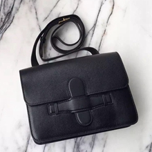 Celine Symmetrical Bag In Black Epsom Leather