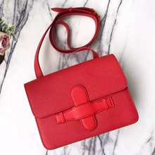 Celine Symmetrical Bag In Red Epsom Leather