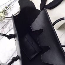 Celine Small Tie Tote Bag In Black Calfskin