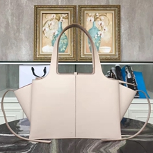 Celine Medium Tri-Fold Shoulder Bag in Beige Calfskin