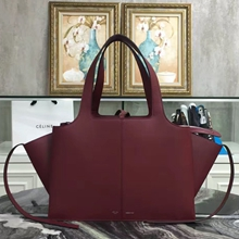 Celine Medium Tri-Fold Shoulder Bag in Bordeaux Calfskin