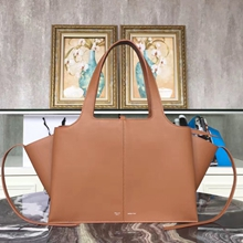 Celine Medium Tri-Fold Shoulder Bag in Brown Calfskin