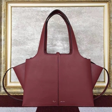 Celine Small Tri-Fold Shoulder Bag in Bordeaux Calfskin