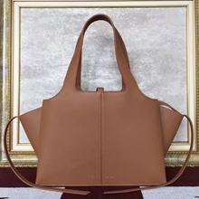 Celine Small Tri-Fold Shoulder Bag in Brown Calfskin