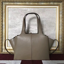 Celine Small Tri-Fold Shoulder Bag in Etoupe Calfskin